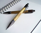 Hand-turned sumac wood Vertex pen and mechanical pencil set