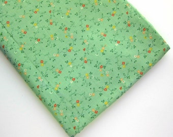 1pc Tiny Flowers Pistachio Cotton Fabric