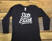 Youth 4T  // Unisex // Charcoal // Salt of the Earth LS Tee