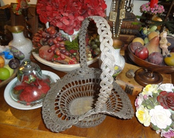 Ornate heavy brass basket...lovely piece with delicate charm