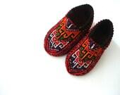 womens slippers, knit socks, womens socks slippers, Turkish Slippers, adult slippers, womens home shoes, gift for her for woman under 25 usd