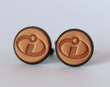 Men's cufflinks - Vintage Style Cufflinks - The Incredible logo cufflinks with a gift box