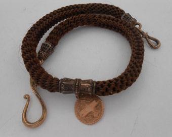 Victorian Hair Pocket Watch Chain Fob