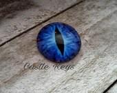 "Eye Cabochon Dragon Eye Cabochon Round Glass Cabochon Domed Glass Blue Eye Cabochon 25mm Cabochon 1"" Dragon Cabochon Embellishment"
