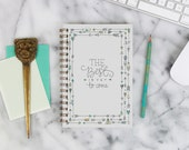 """2016 Weekly Planner """"Best is Yet To Come"""" with monthly spreads, back pocket, stickers, adhesive tabs and more"""