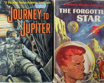 2 Vintage, Science Fiction Books, Joseph Greene: The Forgotten Star (+Dust Jacket), First Edition, 1959, Journey to Jupiter, 1961