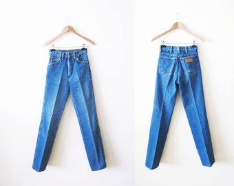 Wrangler Jeans / Vintage Wranglers 24 / 70s Denim / Straight Leg / XS