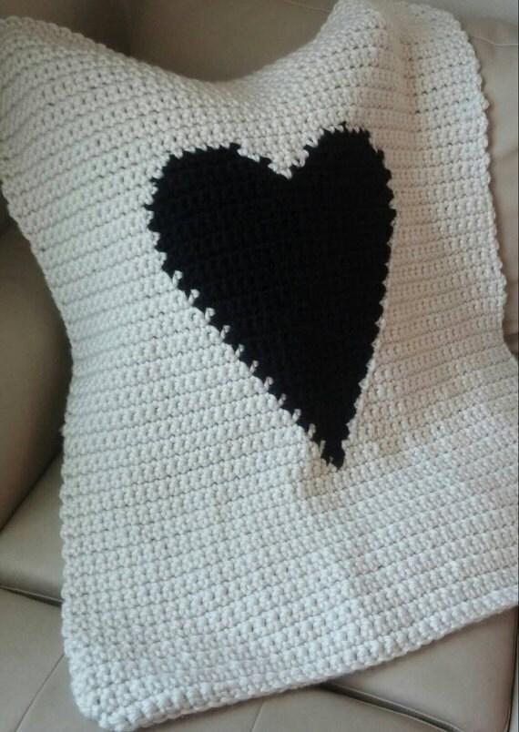 Crochet Granny Square Baby Afghan Patterns : Modern Heart Baby Blanket Pattern Crochet