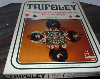 Vintage 1969 CADACO Family TRIPOLEY GAME No. 111 Deluxe Layout edition Complete