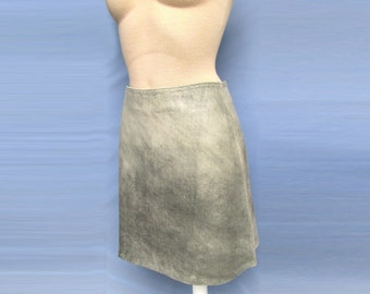 Super Soft Unusual Rapel Leather Skirt A-line 100% Goat Genuine Leather mini New