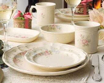 Pfaltzgraff Tea Rose TEA CUPS Vintage Stoneware