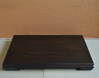 Ikebana flower arrangement table, rosewood, vintage Japanese