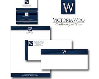 Custom Logo Business Card Letterhead & Envelope Design - Office Marketing Branding Package - Professional Logo Design and Branding