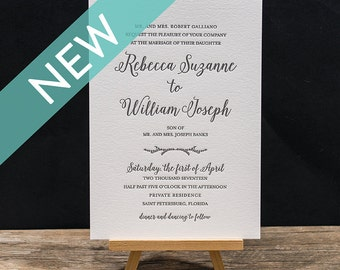 Madison Letterpress Wedding Invitation Suite - DEPOSIT
