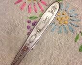 Vintage silver flatware GROSVENOR Pattern Orange Fruit pattern silver plate 1920s cocktail fork pickle fork  by herminas cottage