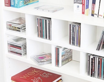 CD usage for IKEA Billy shelf / white