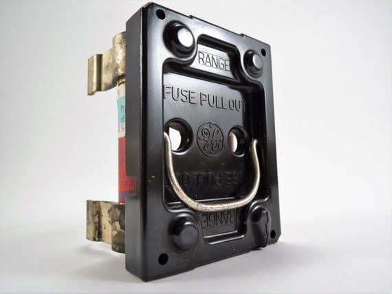 vintage fuses 2 ge pull out fuse holders 50 amp range screw in fuse box pull outs