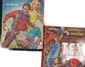 vintage paperback book lot, lot of 7, paperback westerns,  Gunman's Spawn, Tex, Rafe, 1950's