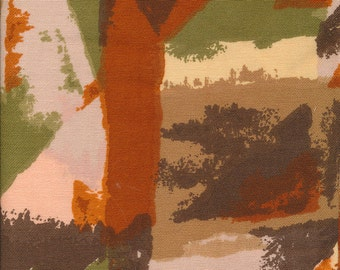 fabric yardage Couleur International, abstract earthtones, one piece, 3 yards, rust, peach, olive