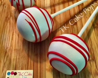 Cake Pops Red and White Party