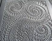 "Texture Plate, for Metal Clay / Polymer clay, ""Spirals"", Original Design by Barbara Becker Simon"