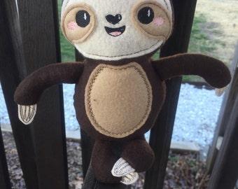 Sloth Softie Plushie, Dolls and Daydreams Pattern, Stuffed Animal