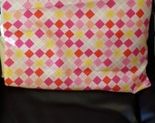 Standard Size Pillowcase- Pink, Yellow, White and Red