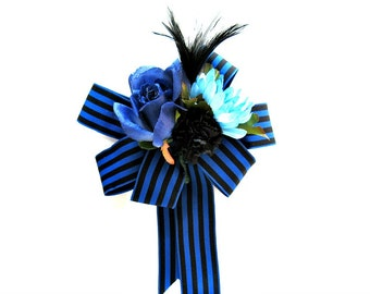 Gift for boyfriends, Home decor, Father's Day gift bow, Gift bow, Gift wrap bow, Gift for dads, Male birthday bow, Basket gift bow,  (HB101)
