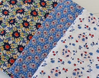 Lot of Vintage/Repro Fabric Blue Cottons