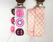 Pacifier Clips, Pacifier Holder - 1 OR 2 Clips