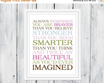 ONSALE Always remember...You Are Braver Print 8x10
