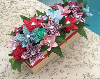 ORIGAMI PAPER FLOWERS // Bouquet/ Floral Arrangement/ Flower Bouquet/ Origami Flowers/Paper Flowers/ Centerpiece