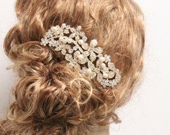 Gold Bridal hair accessory Gold Wedding hair comb Gold Bridal hair piece Gold Wedding hair jewelry Gold Bridal hair accessory Wedding comb