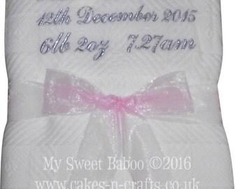 Personalised Baby Shawl - Ideal Christening Gift / Newborns etc