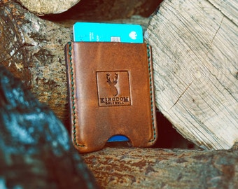 Leather Card Case - Wallet - Business Card Holder - Credit / Debit Card - Minimalist - Mens Gift - Father - Present