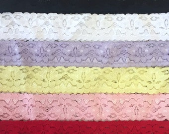 Lace Baby Headbands - CLEARANCE GRAB BAG - Sewn Lace for Baby Headbands - Random Assortment of Colors