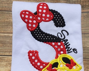 Girls custom disney vacation minnie mouse shirt