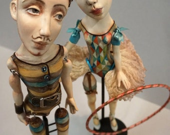 OOAK Art Dolls Josephine and Alfredo