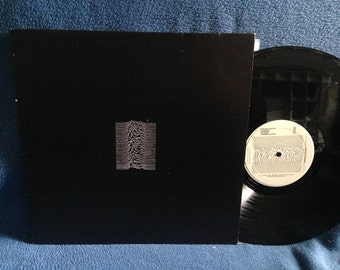 "RARE, Vintage, Joy Division - ""Unknown Pleasures"" Vinyl LP Record Album, 1979 Original First Press, Italy Import, Factory Records, FACT 10"