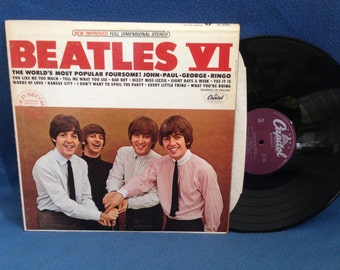 """RARE, Vintage, The Beatles - """"VI"""", Vinyl LP, Record Album, Eight Days A Week, I Don't Want To Spoil The Party, Yes It Is, Kansas City"""