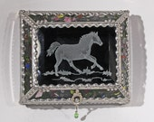 Etched  Equine  - treasure Box