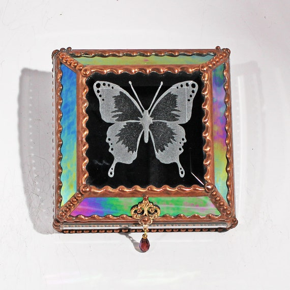 Etched Butterfly - Treasure Box