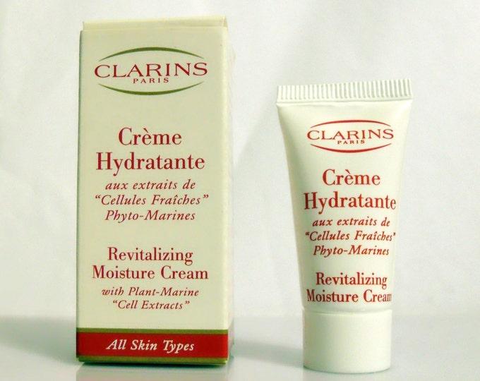 Vintage 1990s Clarins Creme Hydratante Revitalizing Moisture Cream Cosmetic Skin Care Sample Tube in Box