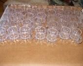 38 miniature plastic beer mugs