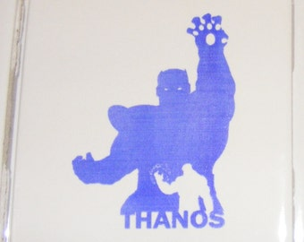 """Laser engraved 4.25"""" x 4.25"""" Square ceramic tile Thanos for Coaster or Plaque"""