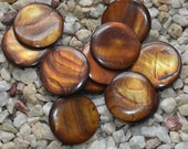 Coffee Coin shape shell pendant or beads for Earrings 30mm 12beads