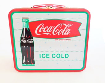 Coca Cola Lunch Box, Metal Lunch Box, Red Lunch Box