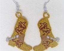 Cowboy Boot Earrings (2)
