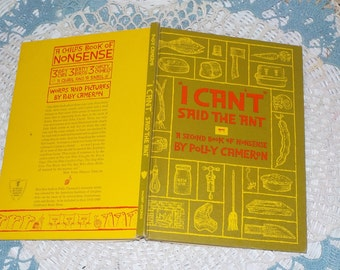 """I Can't"""" Said the Ant: A Second Book of Nonsense Hardcover 1961 / A Second Book of Nonsense /by Polly Cameron"""