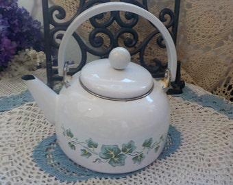 Vintage White Ivory Teapot  :)